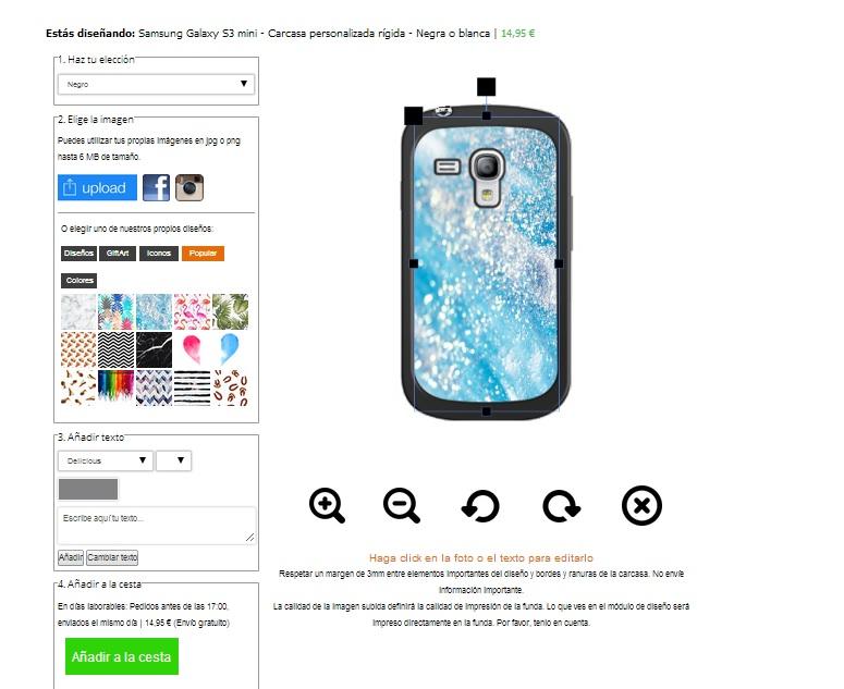Samsung Galaxy S3 mini Hülle selbst gestalten