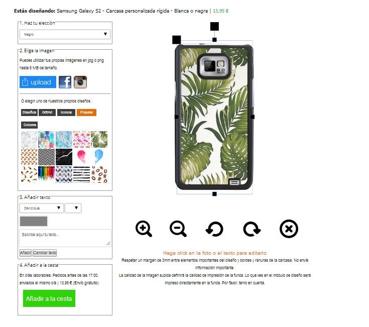 Samsung Galaxy S2 Hülle selbst gestalten