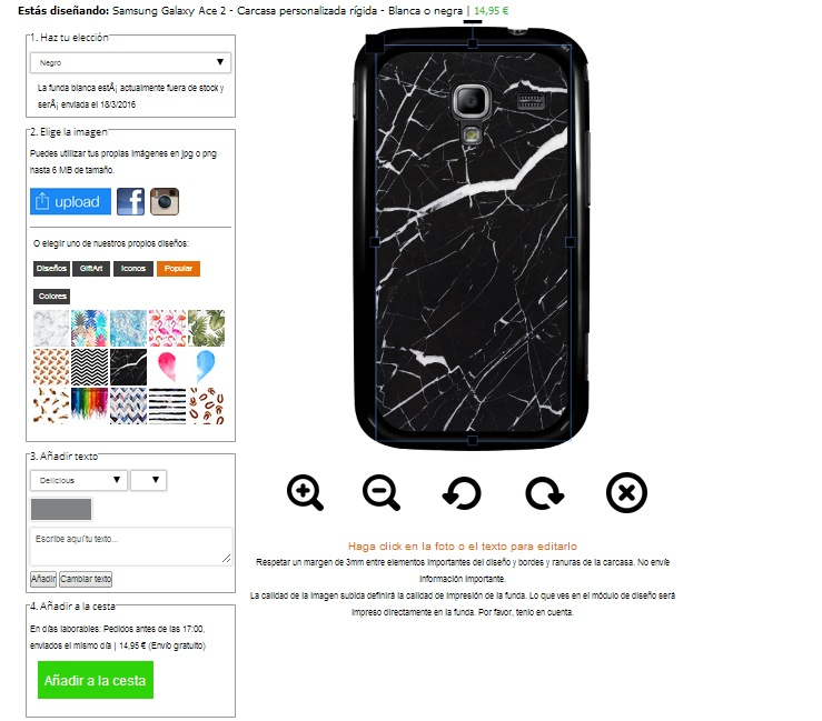 Samsung Galaxy Ace 2 Hülle selbst gestalten