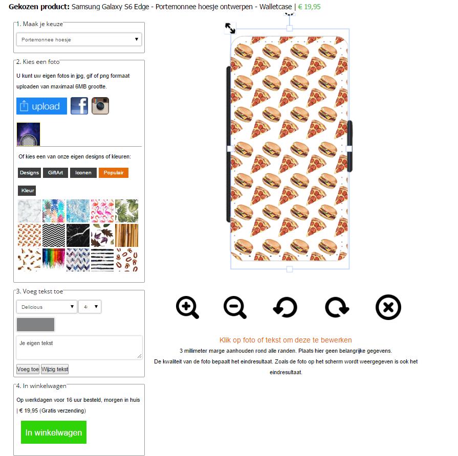 Samsung Galaxy S6 EDGE Walletcase selbst gestalten