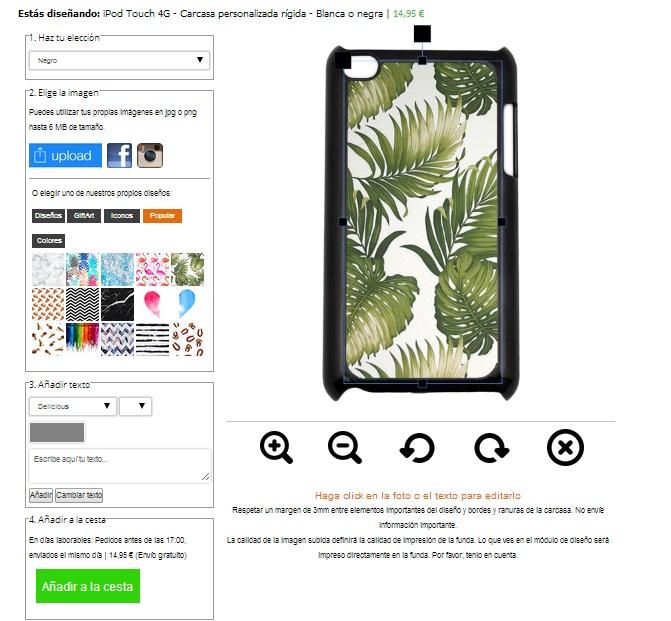 iPod Touch 4G Hülle selbst gestalten mit Foto