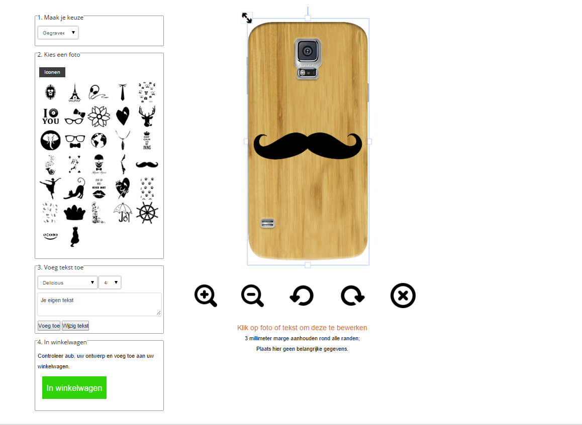 Galaxy S5 Hülle selbst gestalten Holz