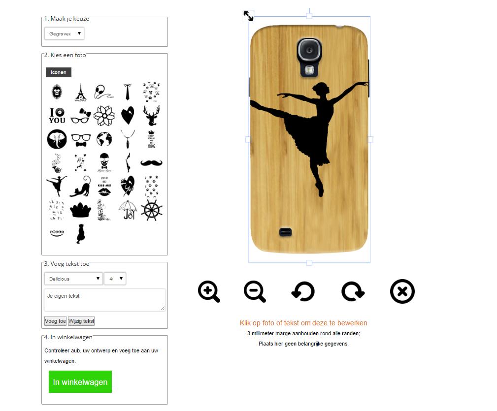 Galaxy S4 Hülle selbst gestalten Holz