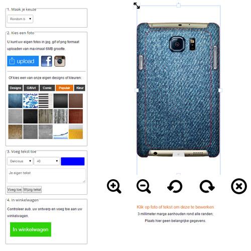 Samsung Galaxy S6 EDGE Hülle selbst gestalten