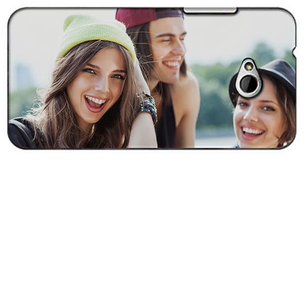 HTC One Mini 2 Hülle selbst gestalten Hardcase Schwarz