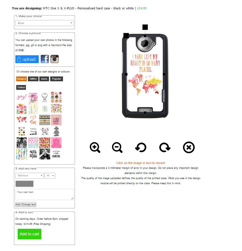 HTC One X - Handyhülle mit Foto title=