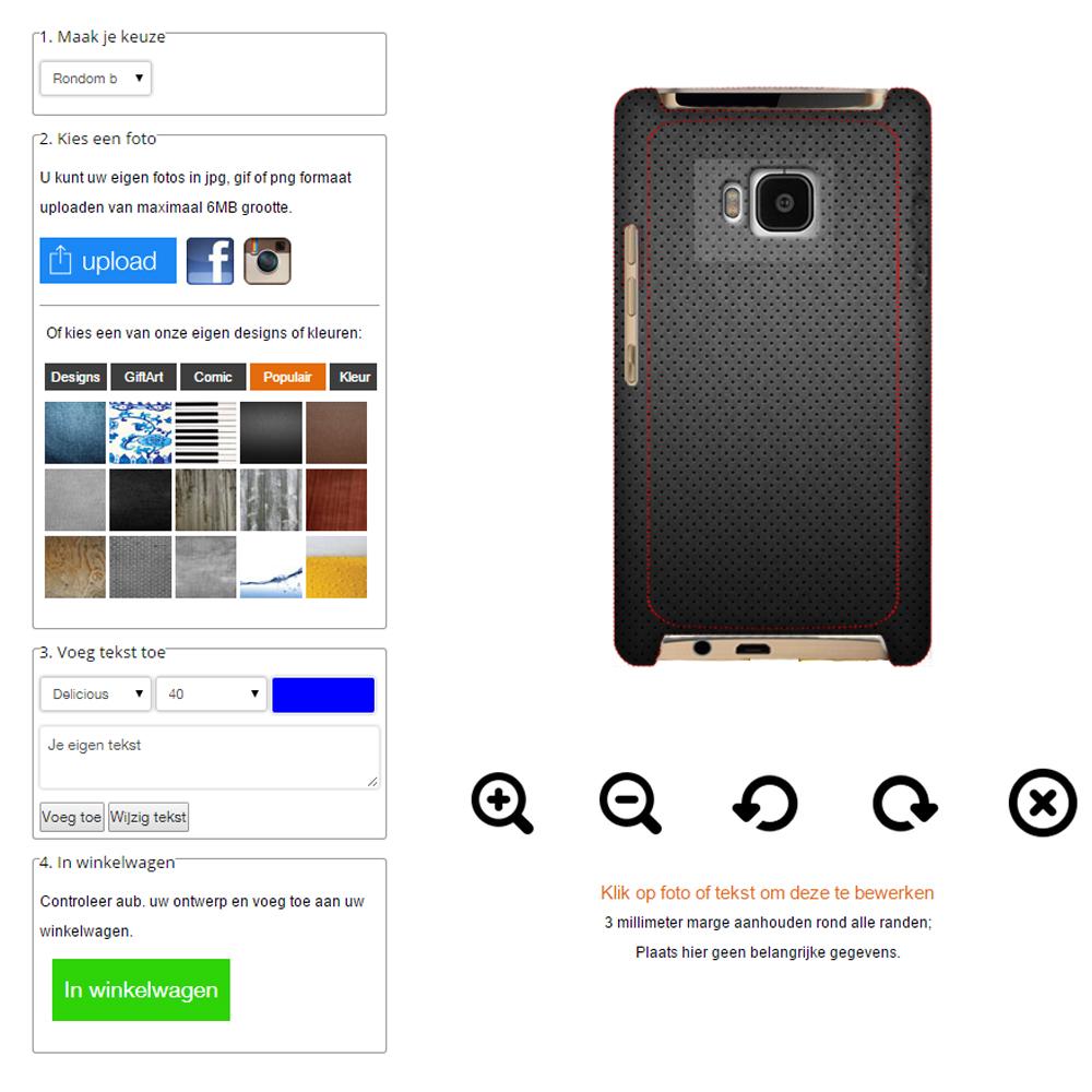 HTC One M8 Hülle selbst gestalten