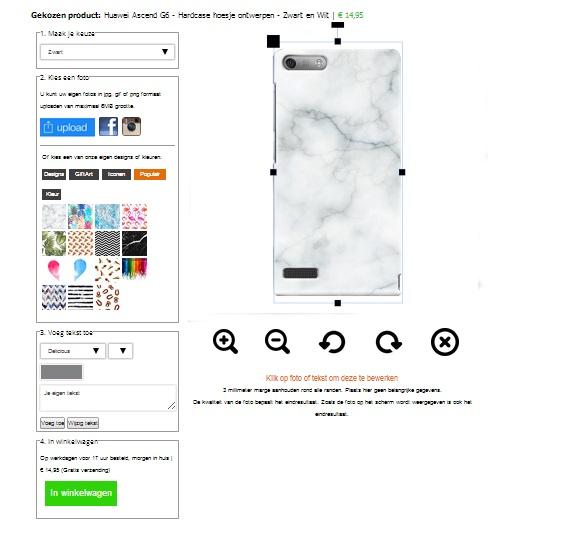 Huawei Ascend G6 Handyhülle mit Foto schwarz oder weiß
