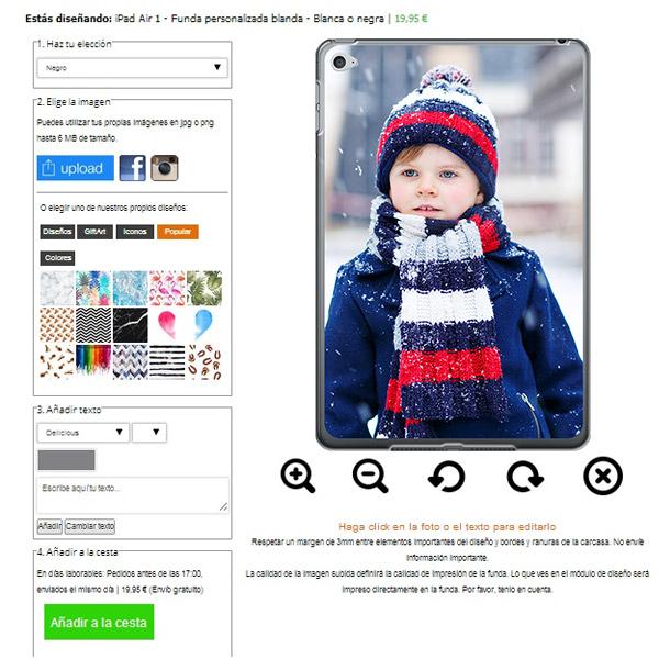 iPad Air Hülle selbst gestalten mit Foto