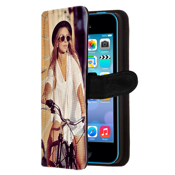 iphone 5c case selbst gestalten flip case mit foto. Black Bedroom Furniture Sets. Home Design Ideas