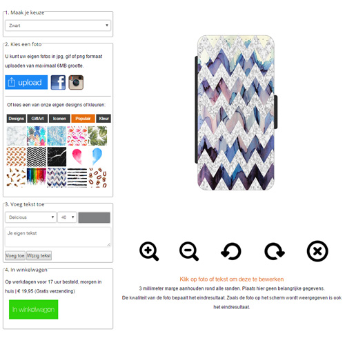 iphone 5 5s se handytasche selbst gestalten mit foto. Black Bedroom Furniture Sets. Home Design Ideas