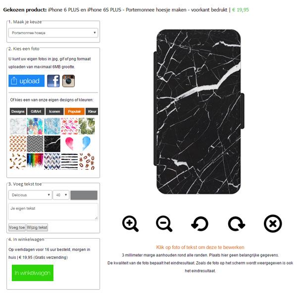 iPhone 6S PLUS Hülle selbst gestalten (Portemonnaie Handytasche)