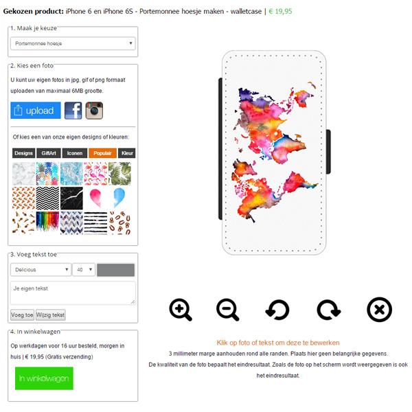 iPhone 6S Portemonnaie Handyhülle selbst gestalten