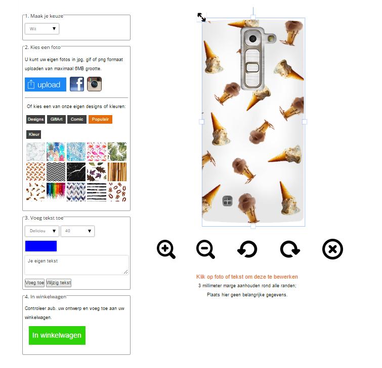 G4c Handyhülle mit Foto und Text