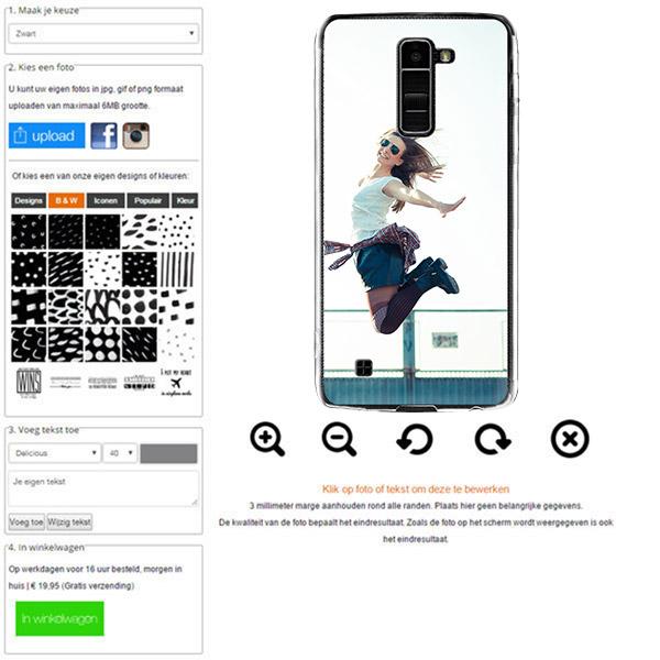 LG K10 Silikonhülle mit Foto