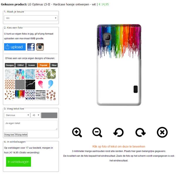 Gestalte deine eigene LG L5-II Fotohülle!