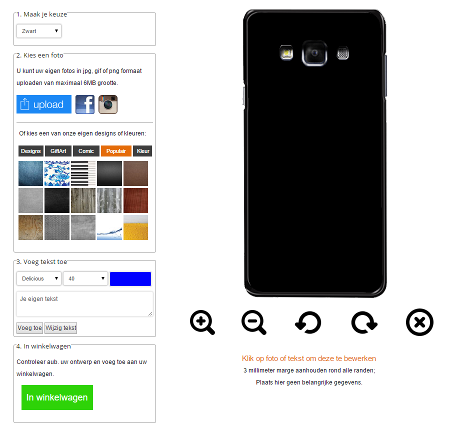 Galaxy A7 Hülle selbst gestalten