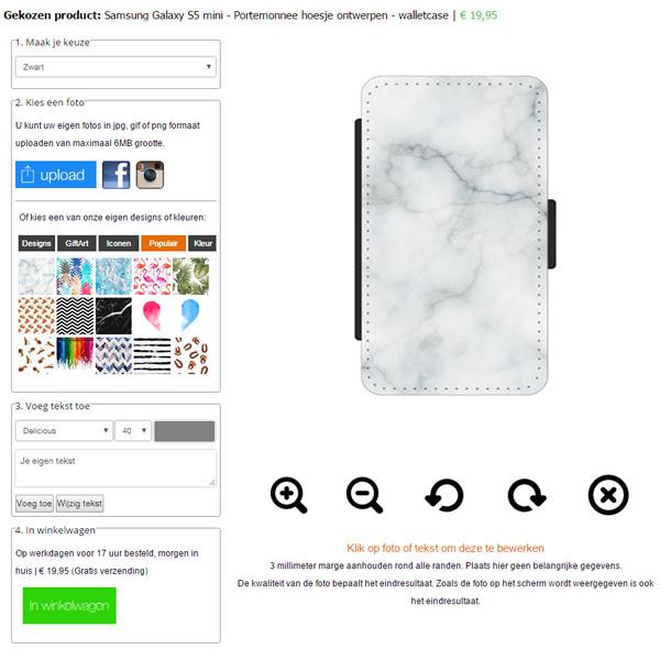 Galaxy S5 Mini Hülle selbst gestalten