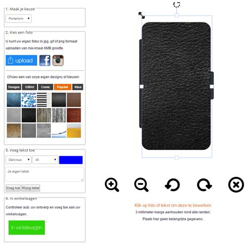 Samsung Galaxy Note 3 Walletcase selbst gestalten