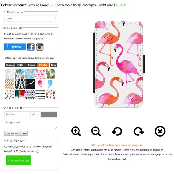 Galaxy S3 Walletcase selbst gestalten