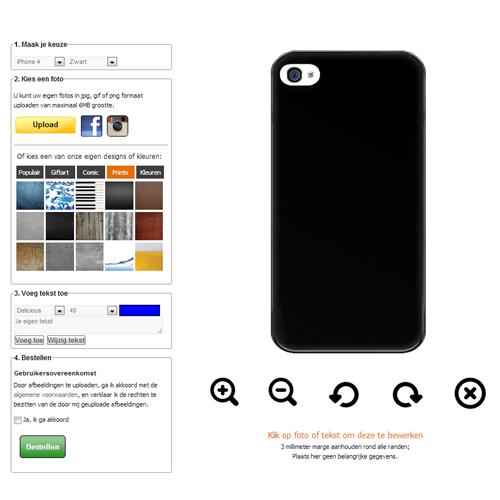 iphone 4 s h lle selbst gestalten hardcase mit foto und. Black Bedroom Furniture Sets. Home Design Ideas