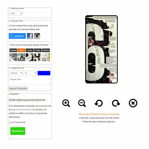 Samsung Galaxy S4 Portemonnaie Hülle selbst gestalten